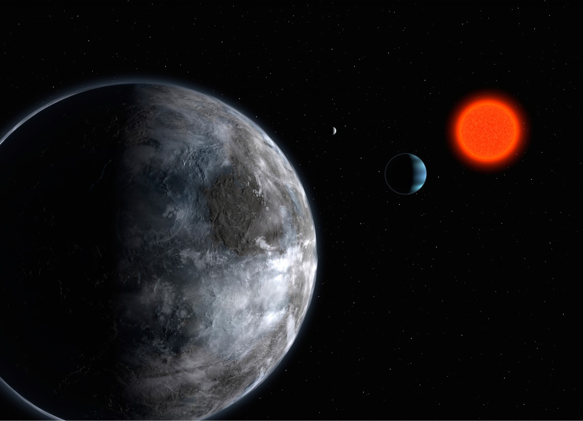 Gliese sistemindeki olası bir gezegen...
