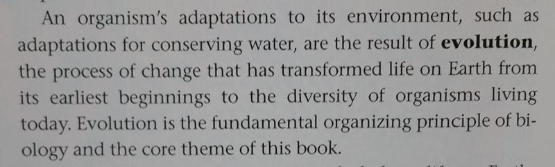 Videoyu çeken şahsın gerine gerine söz ettiği Campbell'ın Biology isimli meşhur kitabının 2011 tarihli 9. baskısının Giriş bölümü... İngilizce bilmeyenler için: