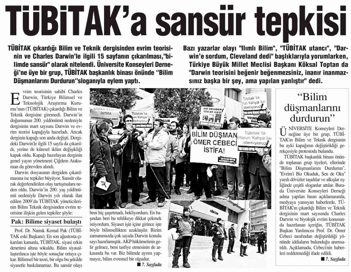 12 Mart 2009 tarihli Bizim Gazete. (Kaynak: EMO)